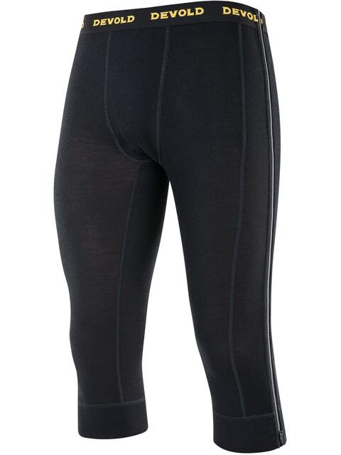 Devold Wool Mesh Zip-Off Capri Pants Men Black